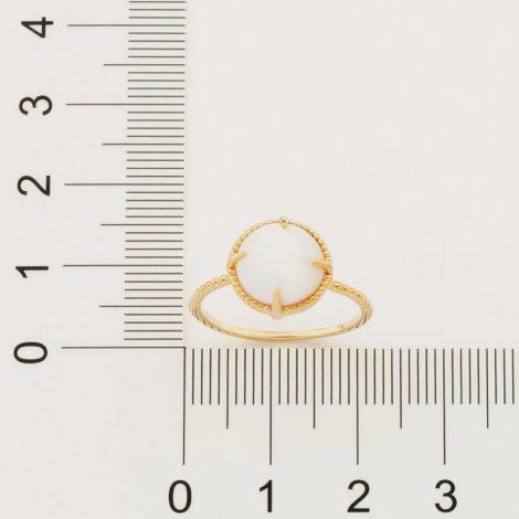 512898 anel solitário aro trabalhado pedra olho de gato branca marca rommanel loja revendedora brilho folheados 4