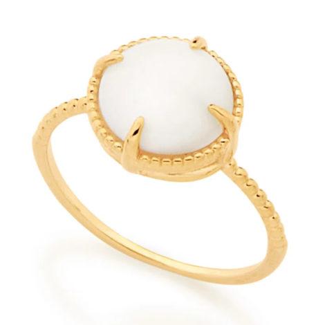 512898 anel solitário aro trabalhado pedra olho de gato branca marca rommanel loja revendedora brilho folheados