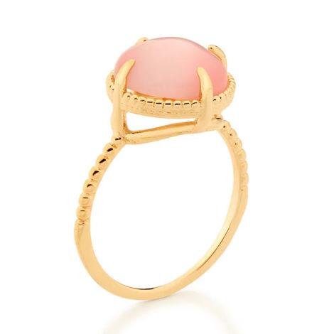 512898 anel solitário aro trabalhado pedra olho de gato rosa marca rommanel loja revendedora brilho folheados 2