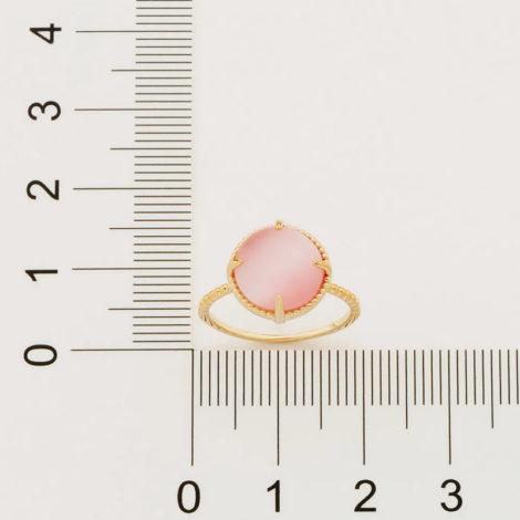 512898 anel solitário aro trabalhado pedra olho de gato rosa marca rommanel loja revendedora brilho folheados 4