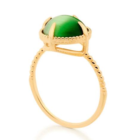 512898 anel solitário aro trabalhado pedra olho de gato verde marca rommanel loja revendedora brilho folheados 2