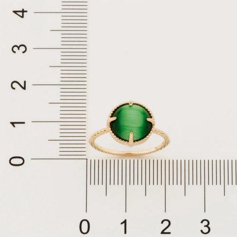 512898 anel solitário aro trabalhado pedra olho de gato verde marca rommanel loja revendedora brilho folheados 4