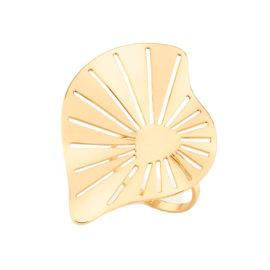 512913 maxi anel formato folha com detalhes vazados colecao para elas dia das maes rommanel loja brilho folheados