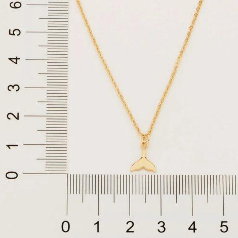 532064 gargantilha ajustavel composta por pingente cauda de sereia marca rommanel loja revendedora brilho folheados 2
