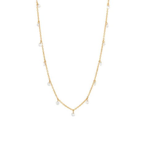 532084 gargantilha dourada zirconias penduradas colecao para elas dia das maes rommanel loja brilho folheados 1