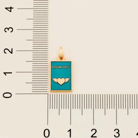 542271 pingente no formato passaporte com aplicação em resina azul marca rommanel loja revendedora brilho folheados 4