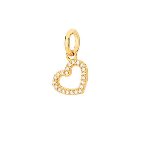 542280 pingente coracao pequeno com micro zirconia branca colecao para elas rommanel loja brilho folheados esse pingente pode ser usado no anel para pingente