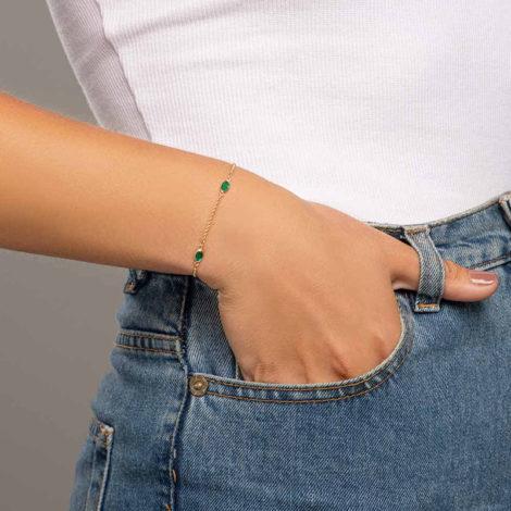 551669 pulseira elos portugueses ovais verdes colecao fe na vida rommanel loja revendedora brilho folheados 3