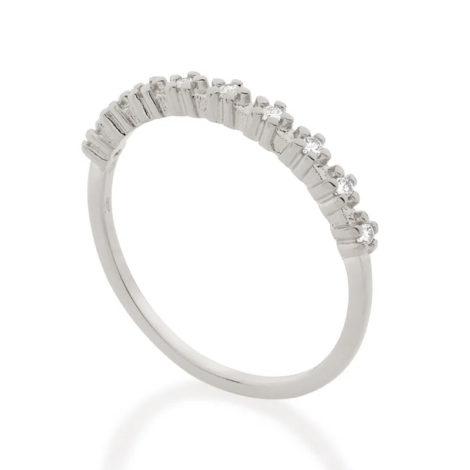 110848 anel meia alianca com flores de zirconias prateado colecao cores da vida marca rommanel loja revendedora brilho folheados 2