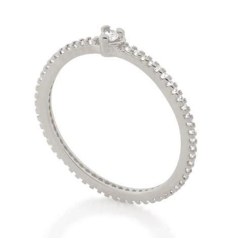 110853 anel solitario coracao com zirconias prateado colecao cores da vida marca rommanel loja revendedora brilho folheados 1