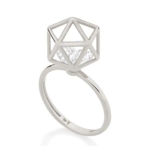110855 anel aro fino com peca geometrica com 2 zirconias brancas brilhantes colecao cores da vida rommanel loja brilho folheados 1
