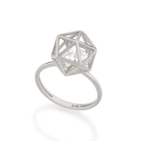 110855 anel aro fino com peca geometrica com 2 zirconias brancas brilhantes colecao cores da vida rommanel loja brilho folheados