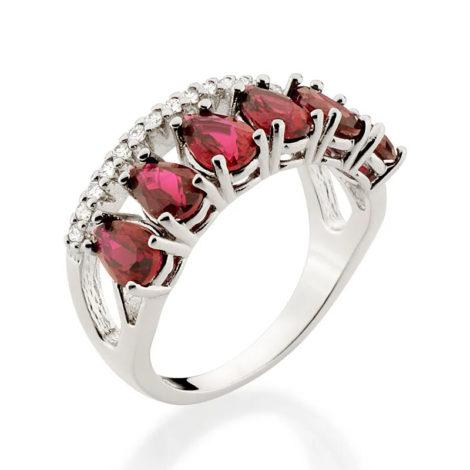 110859 anel aro duplo aro com zirconias e aro com 6 cristais gotas vermelhas colecao cores da vida marca rommanel loja revendedora brilho folheados 2