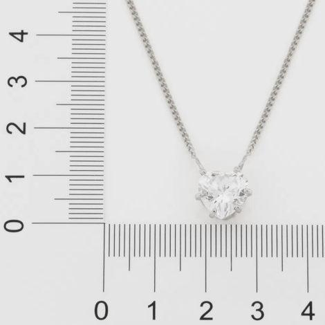 130460 gargantilha com pingente zirconia no formato de coracao prateado colecao dia dos namorados marca rommanel loja revendedora brilho folheados 3