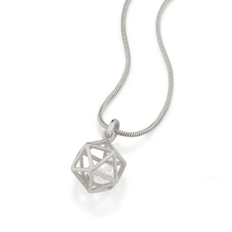 140823 pingente formato geometrico icosaedro 2 zirconias brancas brilhantes colecao cores da vida rommanel loja brilho folheados 1