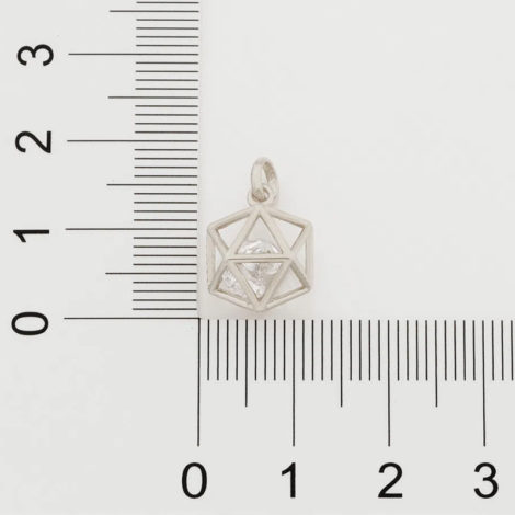 140823 pingente formato geometrico icosaedro 2 zirconias brancas brilhantes colecao cores da vida rommanel loja brilho folheados 2