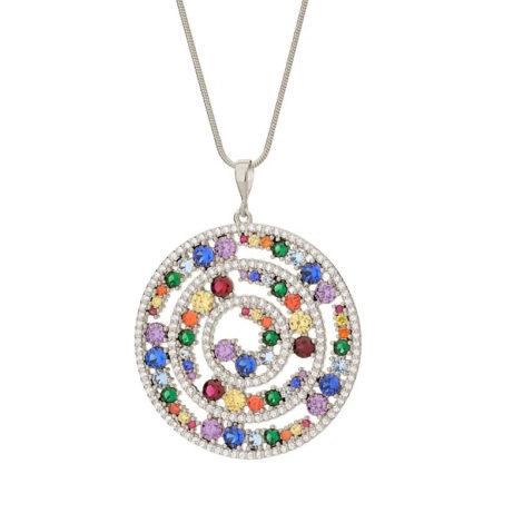 140824 pingente mandala roda da vida com zirconias coloridas colecao cores da vida marca rommanel loja revendedora brilho folheados 2