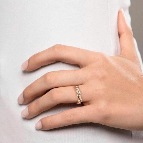 512827 anel coracoes aro duplo dourado e prateado colecao dia dos namorados marca rommanel loja revendedora brilho folheados foto modelo 1