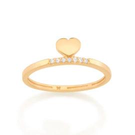 512846 anel delicado coracao com zirconias no aro colecao dia dos namorados marca rommanel loja revendedora brilho folheados 1