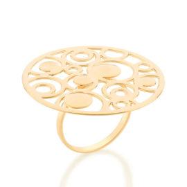 512858 maxi anel sol com circulos vazados colecao cores da vida marca rommanel loja revendedora brilho folheados