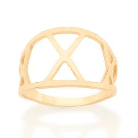 512861 anel detalhes geometricos vazados colecao cores da vida marca rommanel loja revendedora brilho folheados