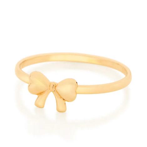 512862 anel skinny ring com laco delicado no centro colecao cores da vida marca rommanel loja revendedora brilho folheados foto modelo 2