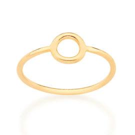 512863 anel aro liso com circulo vazado no centro colecao cores da vida marca rommanel loja revendedora brilho folheados