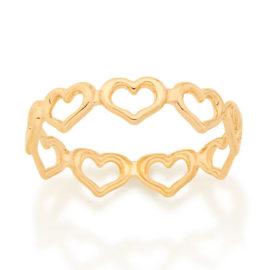 512867 anel todo rodeado de coracoes vazados dia dos namorados marca rommanel loja revendedora brilho folheados 1