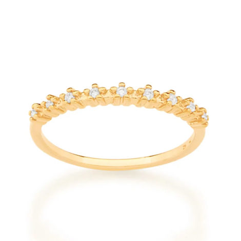 512870 anel meia alianca com flores de zirconias colecao cores da vida marca rommanel loja revendedora brilho folheados