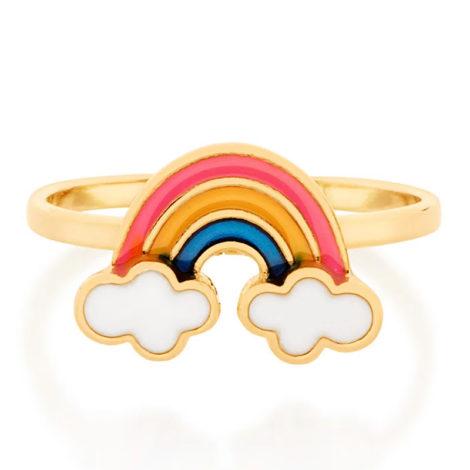 512873 anel infantil arco iris resina colorida colecao cores da vida marca rommanel loja revendedora brilho folheados 3