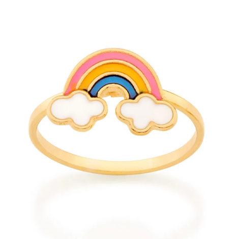 512873 anel infantil arco iris resina colorida colecao cores da vida marca rommanel loja revendedora brilho folheados
