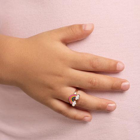 512873 anel infantil arco iris resina colorida colecao cores da vida marca rommanel loja revendedora brilho folheados foto modelo