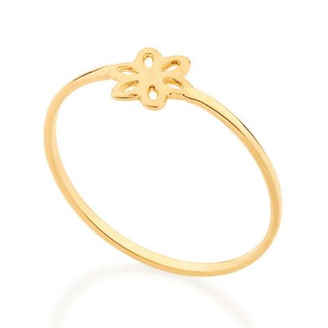 512881 anel aro liso com flor vazada colecao cores da vida marca rommanel loja revendedora brilho folheados 2