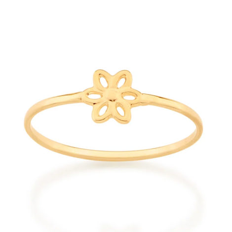 512881 anel aro liso com flor vazada colecao cores da vida marca rommanel loja revendedora brilho folheados