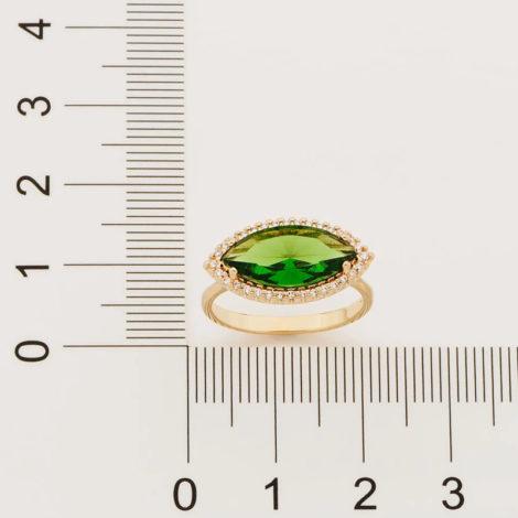 512888 anel maxi cristal oval na horizonal verde com zirconias brancas colecao fe na vida marca rommanel loja brilho folheados 2