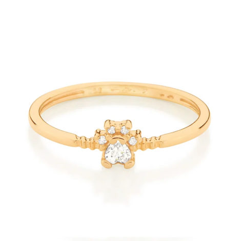 512890 anel aro liso com patinha de cachorro e zirconias colecao cores da vida marca rommanel loja revendedora brilho folheados 2