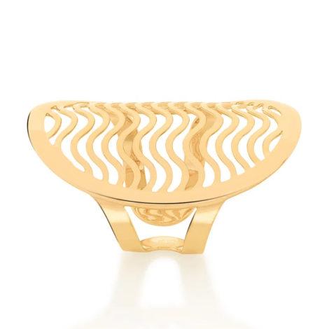 512894 anel ajustavel oval detalhes de ondas vazado colecao cores da vida marca rommanel loja revendedora brilho folheados 2