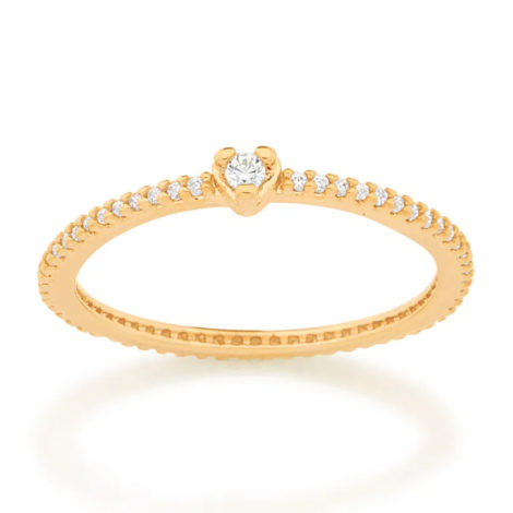 512895 anel solitario coracao com zirconias colecao cores da vida marca rommanel loja revendedora brilho folheados