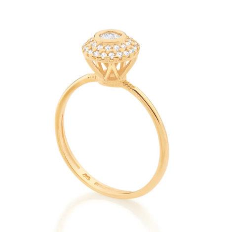 512896 anel solitario cravejado com 34 zirconias brancas brilhantes colecao fe na vida marca rommanel loja revendedora brilho folheados 1