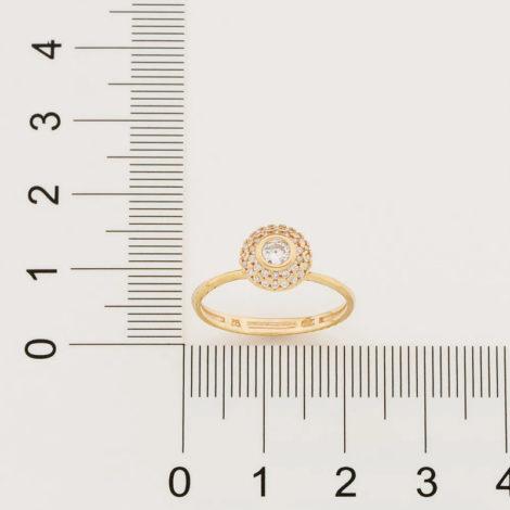 512896 anel solitario cravejado com 34 zirconias brancas brilhantes colecao fe na vida marca rommanel loja revendedora brilho folheados 2