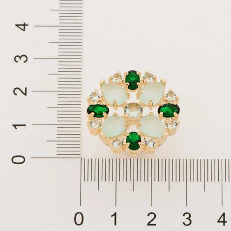512905 maxi anel cristais tons de verde colecao fe na vida marca rommanel loja revendedora brilho folheados 2