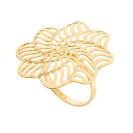 512917 maxi anel formado por flor estilizada colecao origens rommanel loja brilho folheados