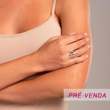 512918 anel aro largo e liso letra S dourado marca rommanel loja revendedora brilho folheados foto modelo
