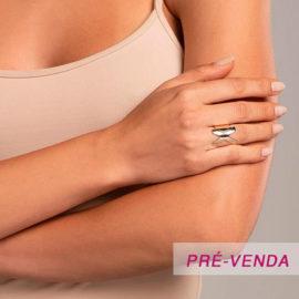 512918 anel aro largo e liso letra X dourado marca rommanel loja revendedora brilho folheados foto modelo