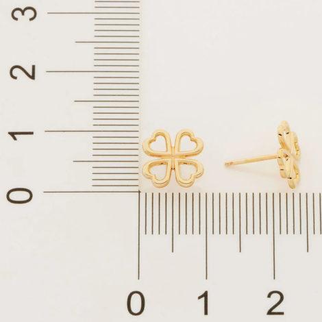 526477 brinco pequeno trevo vazado colecao fe na vida rommanel loja revendedora brilho folheados 2