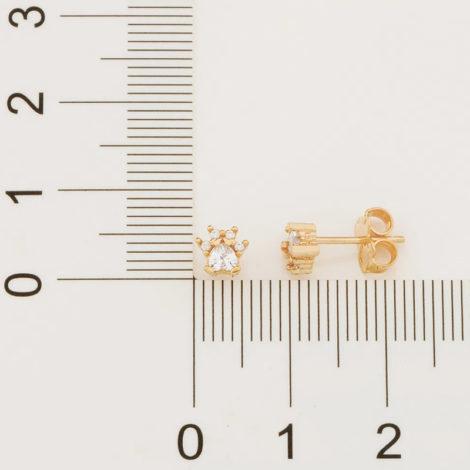 526496 brinco pequeno formato patinha de cachorro com zirconias colecao cores da vida marca rommanel loja revendedora brilho folheados 4