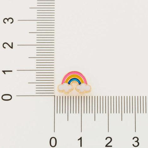 526500 brinco infantil arco iris resina colorida colecao cores da vida marca rommanel loja revendedora brilho folheados 3