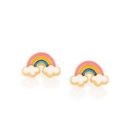526500 brinco infantil arco iris resina colorida colecao cores da vida rommanel loja brilho folheados