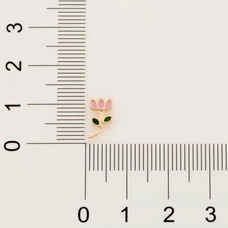 526501 brinco infantil flor tulipa resina colorida colecao cores da vida marca rommanel loja revendedora brilho folheados 4