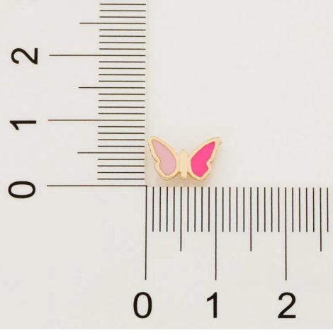 526502 brinco infantil borboleta resina rosa tarraxa tradiconal colecao cores da vida rommanel loja brilho folheados 6